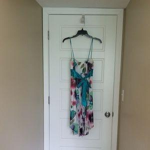 Speechless Dresses - Asymmetrical Watercolor Print Dress